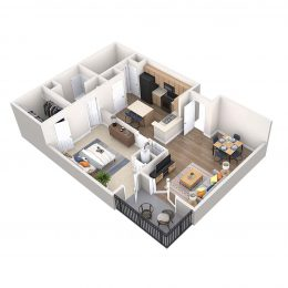 Bell Riverside apartments Siena floor plan