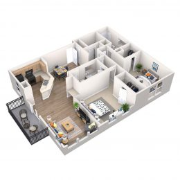 Bell Riverside apartments Umbria floor plan