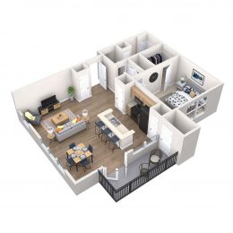 Bell Riverside apartments Viscardo floor plan